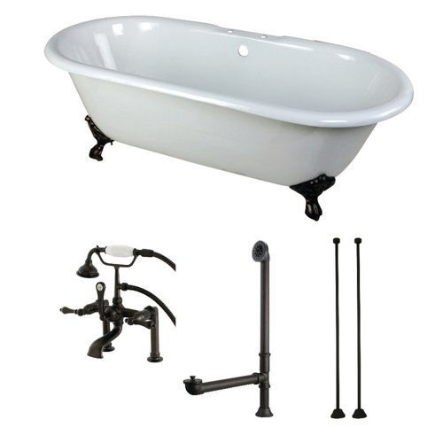 Kingston Brass 66'' x 30'' Clawfoot Soaking Bathtub