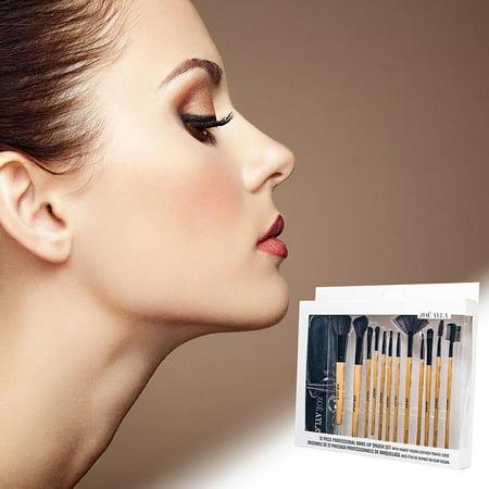 ZOE AYLA 12 Piece Professional Make-Up Brush Set with Travel Case - image 3 of 7