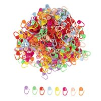 320PCS Stitch Markers Crochet Knitting Locking Stitch Markers Stitch Needle Clips, Accessories Supplies Tools for Sewing Quilting Weaving DIY Art Craft Projects, 8 Colors, 0.86 x 0.4 Inches