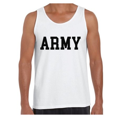 Awkward Styles Army Tank Top for Men Army Men's Tank Military Tank Top Military Sleeveless Shirt for Men Army Gifts for Him Homecoming Suprise Party Outfit Army Workout Shirts](Homecoming Party)