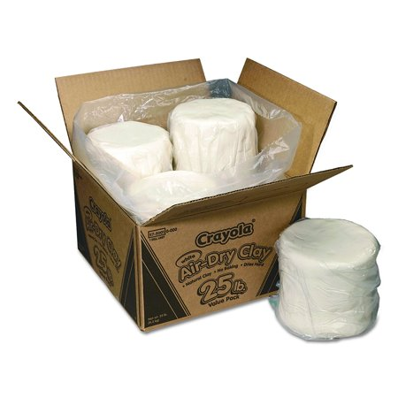- Air Dry Clay 25 lb Value Pack White, Nontoxic, air-dry, self-hardening white clay. By Crayola