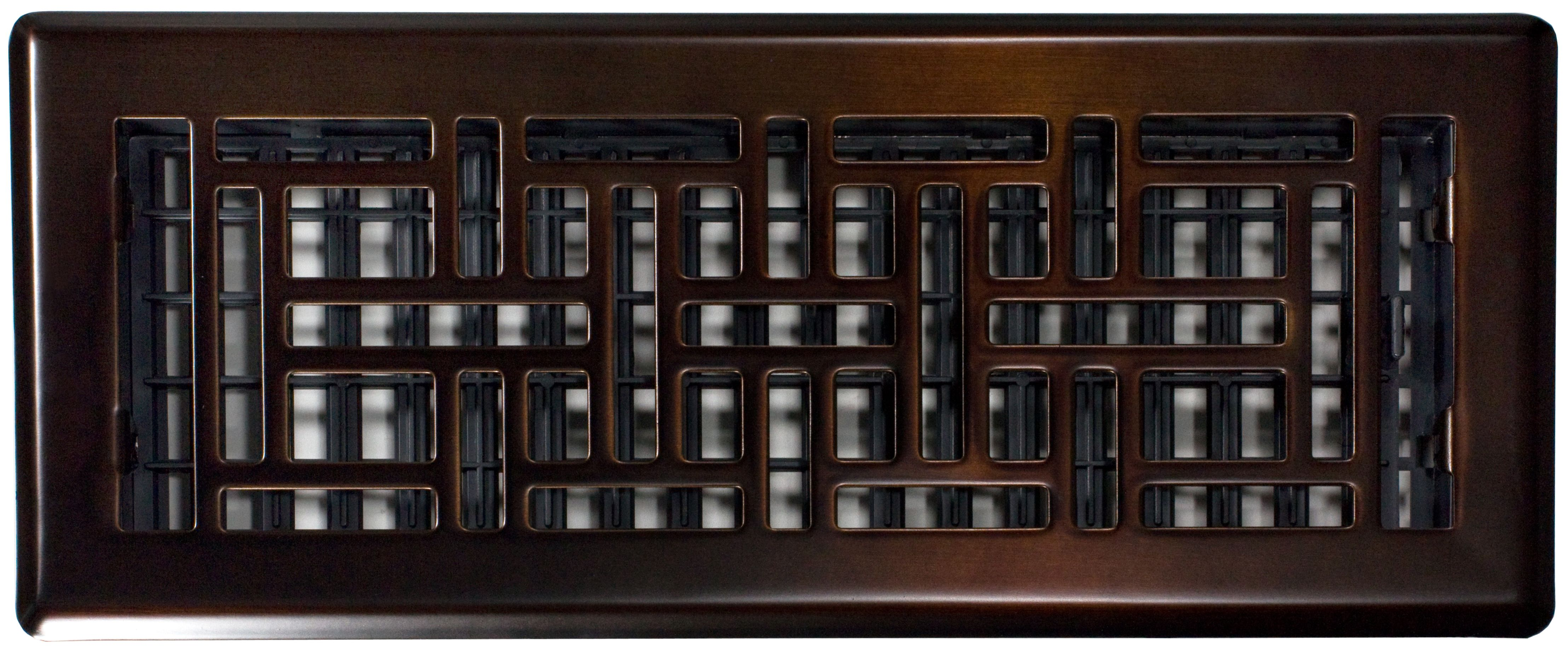 "Decor Grates Oil Rubbed Bronze Floor Register AJH412-RB 4/""x 12/"" Air Vents"