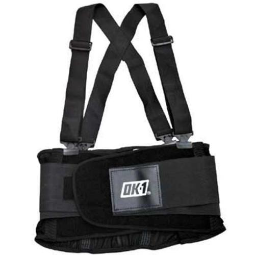 OK-1 OK-200S-3X Back Support W/Suspenders, Contoured, 3XL