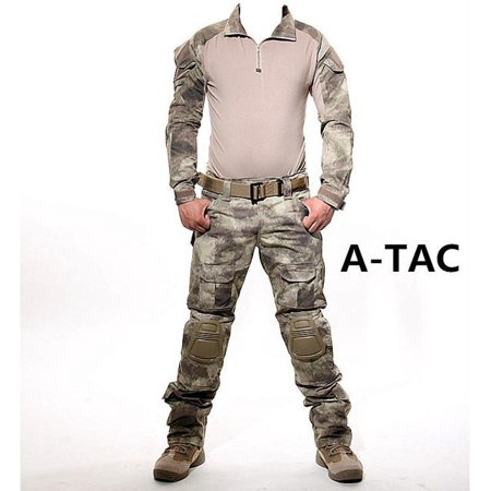 Tactical military uniform uniform tactical pants with knee pads camouflage clothes ()