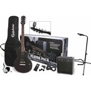Epiphone Les Paul Exclusive Player Pack with Samson HP30 Headphones and On-Stage XCG4 Guitar Stand