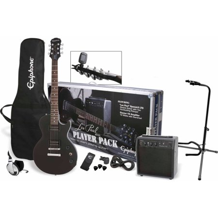 (Epiphone Les Paul Exclusive Player Pack with Samson HP30 Headphones and On-Stage XCG4 Guitar Stand)