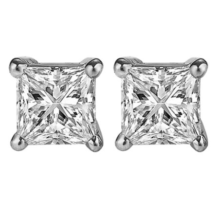 Natural Diamond Stud Earrings Screw Back Perfect Gift - image 1 of 7