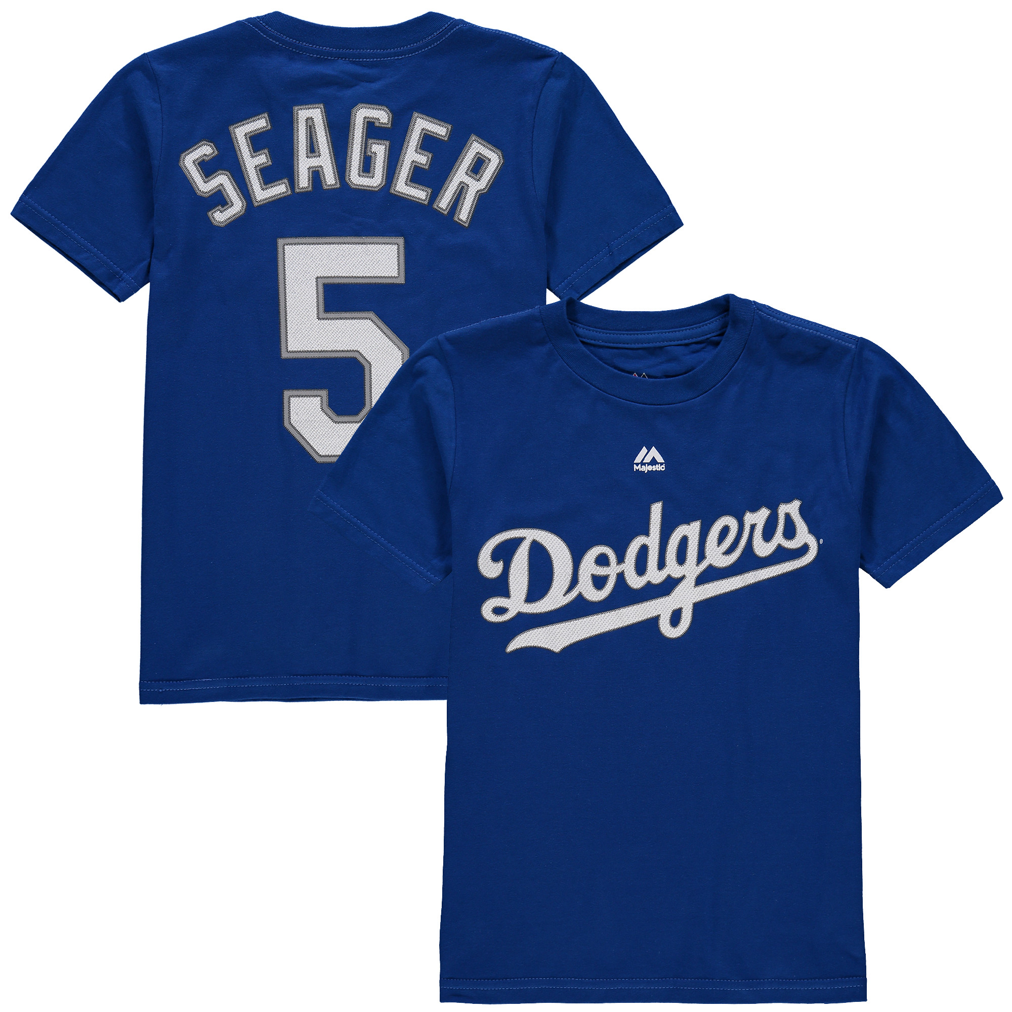 Corey Seager Los Angeles Dodgers Majestic Youth Player Name and Number T-Shirt - Royal
