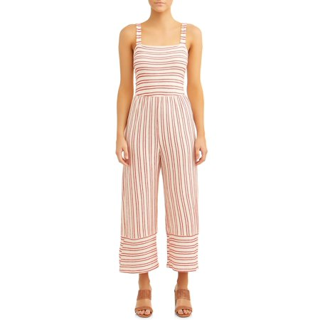Women's Smocked French Terry Jumpsuit ()