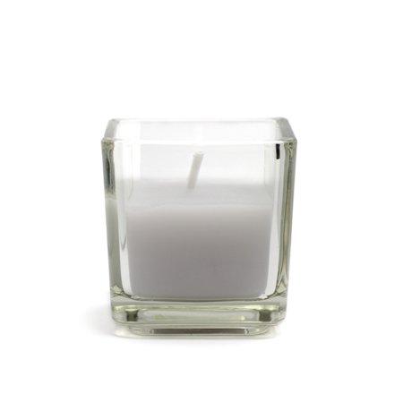 Jeco CVZ-046 Lavender Square Glass Votive Candles (12pc/Box) Green Square Candle