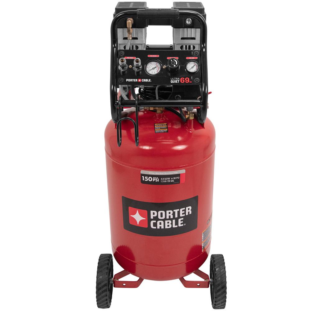 Porter-Cable 1.5 HP 20 Gallon Quiet Vertical Air Compressor