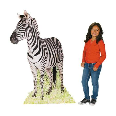 Fun Express - Safari Zebra Standup - Party Decor - Large Decor - Floor Stand Ups - 1 Piece](Halloween Stand Ups)