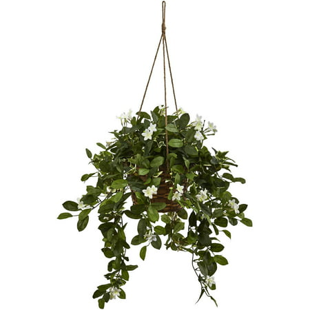 Artificial Mixed Stephanotis Hanging Basket