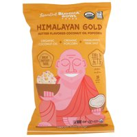 Lesserevil Buddha Bowl Himalayan Gold Butter Flavored Coconut Oil Organic Popcorn, 5 Oz, Pack Of 12