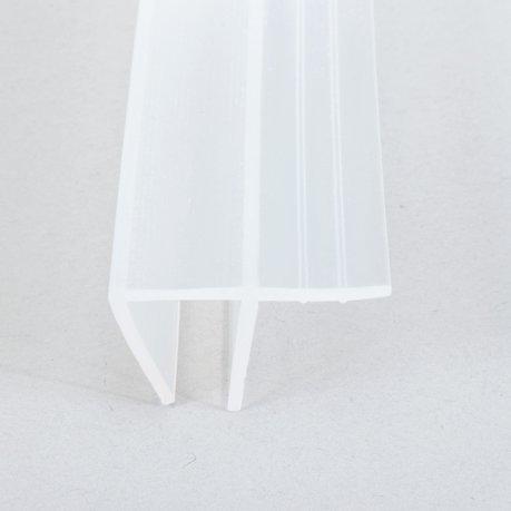 78 7 en forme f fen tre joint porte douche sans cadre clair pour verre de 1 4. Black Bedroom Furniture Sets. Home Design Ideas