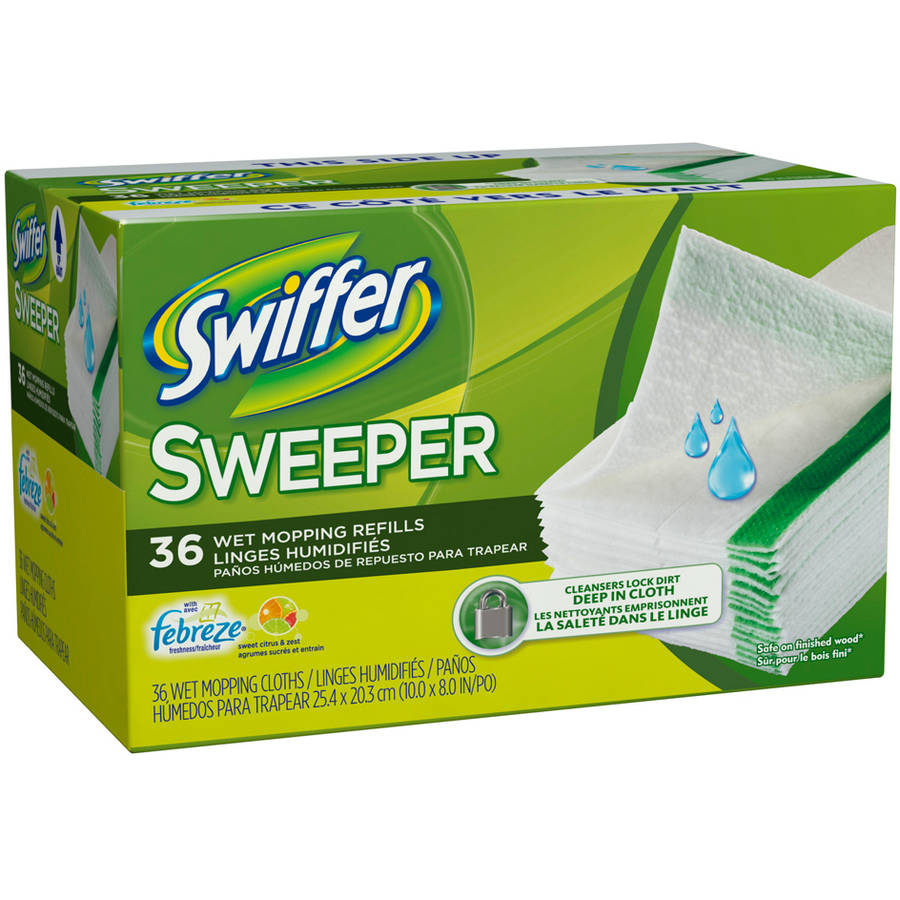 Swiffer Wet Mopping Refills with Febreze Freshness, Citrus and Light, 36 ct