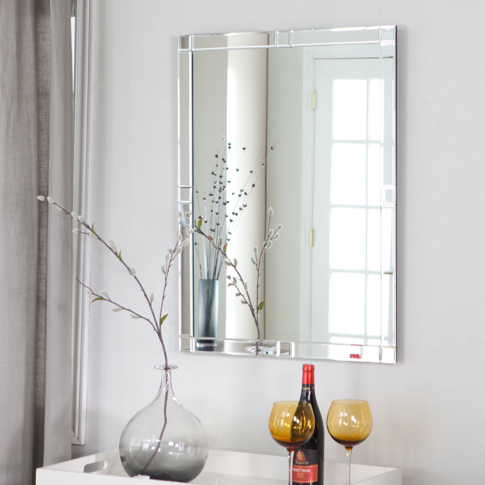 Décor Wonderland Frameless Beveled Karnia Mirror - 23.6W x 31.5H in.