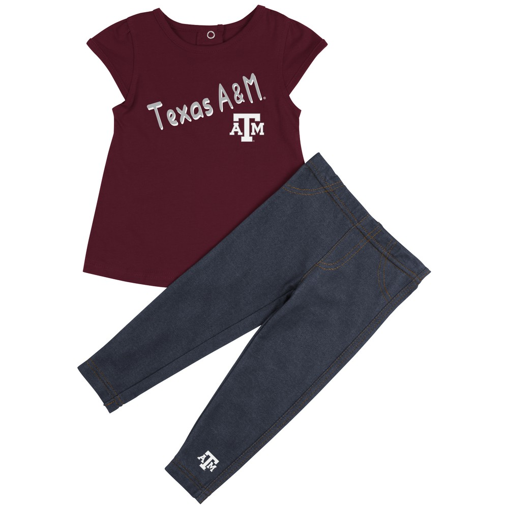 Texas A&M Aggies Girls' Tee Shirt and Jeggings Set
