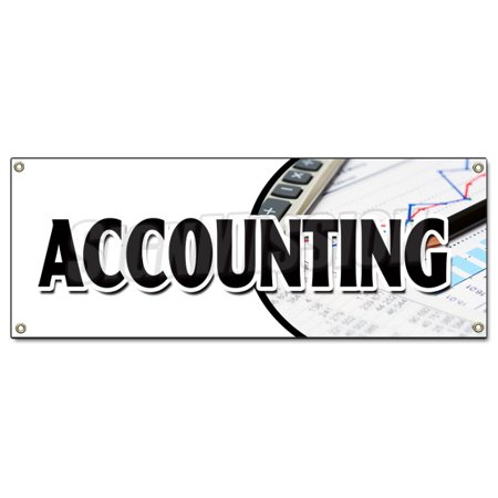 Accounting Banner Sign Tax Return Preparation Cpa Refund Accountant