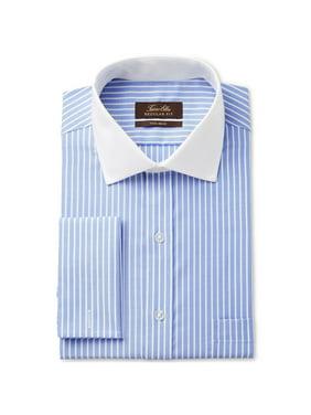 Tasso Elba Mens Striped Button Up Dress Shirt