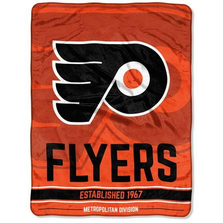 "NHL Philadelphia Flyers ""Breakaway"" 46""x 60"" Micro Raschel Throw Philadelphia Flyers Throw"