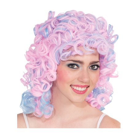 Womens  Blue Pink Cotton Candy Tight Loose Nicki Minaj Punk Candy - Nicki Minaj Super Bass Wig