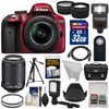 Nikon D3300 Digital SLR Camera & 18-55mm G VR DX II (Red) with 55-200mm VR II Lens + 32GB + Case + Tripod + Flash + LED Light + Tele/Wide Lens Kit Nikon D3300 Digital SLR Camera<br> + 18-55mm VR II Lens Outfit <br>Creating beautiful photos and videos has never been more fun. Life is full of surprising, joyful moments -- moments worth remembering. The <b>Nikon D3300 Digital SLR</b> makes it fun and easy to preserve those moments in the lifelike beauty they deserve: stunning <b>24.2-megapixel photos</b> and <b>1080p Full HD videos</b> with tack-sharp details, vibrant colors and softly blurred backgrounds. Like sharing photos? The D3300 photos can appear instantly on your compatible smartphone or tablet for easy sharing with the <b>optional WU-1a Wireless Adapter</b>! Whether youre creating high-resolution panoramas, adding artistic special effects or recording HD video with sound, the D3300 will bring you endless joy, excitement and memories -- just like the special moments of your life. This camera outfit includes the versatile <b>AF-S DX NIKKOR 18-55mm f/3.5-5.6G VR II</b> lens which delivers the sharpest, most color-rich results imaginable. Optimized for Nikons new high-resolution DX-format image sensors, it borrows the ultra-compact retractable lens barrel design from the Nikon 1 system. Nikons remarkable <b>Vibration Reduction</b> technology provides 4 stops of blur-free handheld shooting -- enjoy crisp, clear images even if your hands are a bit unsteady and shoot at slower shutter speeds in low-light situations. <br><br><b>Key Features:</b><br> <b>Create stunning lifelike photos and HD videos</b><br> Taking snapshots with a smartphone is convenient, but are those photos good enough for preserving precious moments? The D3300s new EXPEED 4 lets you shoot at high speeds up to 5 frames per second, shoot in low light with high ISO sensitivity, create high-resolution panoramas and much more. Your 24.2-megapixel photos and 1080p Full HD videos will be so impressive, so rich with detail+ and color -- so lifelike -- theyll bring back the feelings of the moments they capture. <b>Compact, lightweight and reliable</b><br> The D3300 is a small and light HD-SLR camera even when paired with the included AF-S DX NIKKOR 18-55mm f/3.5-5.6G VR II lens, which has a new ultra-compact design. The combination is designed to fit comfortably in your hands, and all of the D3300s buttons and dials are positioned for convenient, efficient operation. Youll take the D3300 everywhere you go, which means youll bring home all the beautiful memories of your activities. <b>Focus on the details</b><br> The D3300s 11-point Autofocus System locks onto your subjects as soon as they enter the frame and stays with them until you catch the shot you want. Even fast-moving subjects are captured with tack-sharp precision. And when youre recording Full HD video, Full-time Autofocus keeps the focus where you want it. <b>Spectacular panoramas, Guide Mode and fun Special Effects</b><br> Using the D3300 is super easy -- and a blast. Cant get the whole scene into your frame? Turn on Easy Panorama Mode and pan across the scene -- the D3300 will capture the entire view as a high-resolution panoramic image. Its that easy! Guide Mode gives step-by-step help when you need it (its like having an expert at your side), and you can easily get creative with built-in Image Effects, filters and more. <b>Enjoy the view</b><br> Like all D-SLR cameras, the D3300 has an optical viewfinder that gives you a true view through the lens of the camera -- and what a view it is! If youve been using a point-and-shoot camera, youll find it easier to frame your shots, follow moving subjects, zoom in on bright sunny days and more. <b>Catch every moment</b><br> When the action starts, hold down the shutter button to capture every movement, expression and feeling at 5 frames per second -- thats 5 beautiful photos for every second of action! You wont believe some ot 5 frames per second -- thats 5 beautiful photos for every second of action! You wont believe some of the moments youll catch thanks to Nikons new high-speed EXPEED 4 processing engine.