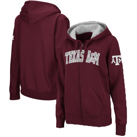 Texas A&m Three Light (Texas A&M Aggies Colosseum Women's Plus Size Full-Zip Hoodie - Maroon )