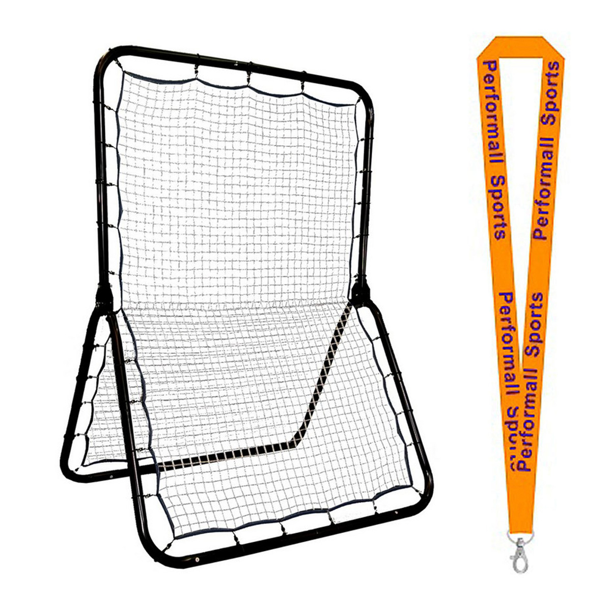 Champion Sports Bundle: Double-Sided Lacrosse and Multi-Sport Training Rebounder   1 Performall Lanyard LBT53-1P