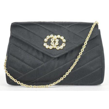 Chanel Satin Crystal CC Mini Flap Crossbody 11CK1219