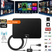 1byone TV Antenna 50 Miles Amplified HDTV Antenna with Signal Booster and10ft Cable