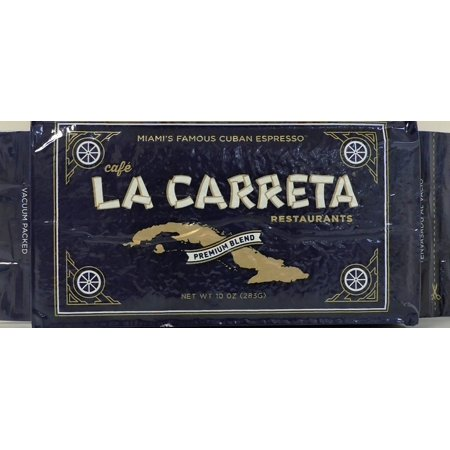 La Carreta Espresso Style Coffee Ground 10 oz Brick Vacuum Pack