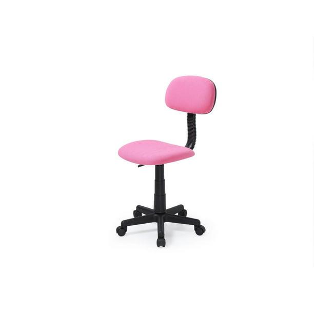 Hodedah Armless, Adjustable, Swiveling Kids Desk Chair, Pink