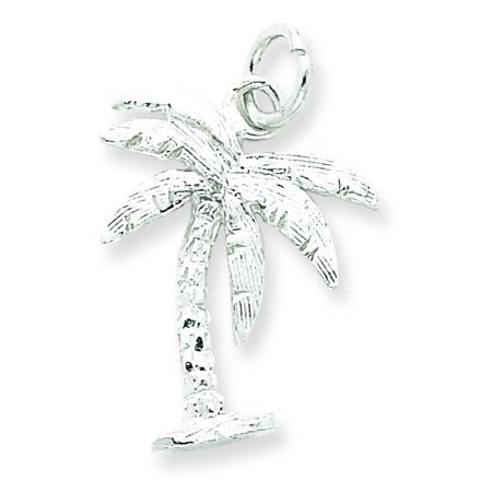 - Sterling Silver Palm Tree Charm Pendant Tropical
