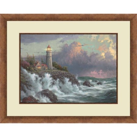 Thomas Kinkade,Conquering the Storms-Gold Colored Frame, 20x16 ...