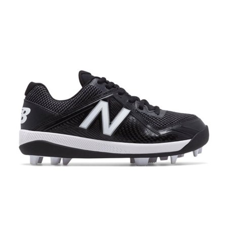 New Balance J4040V4 Youth Baseball (Black Metal Baseball Cleats)