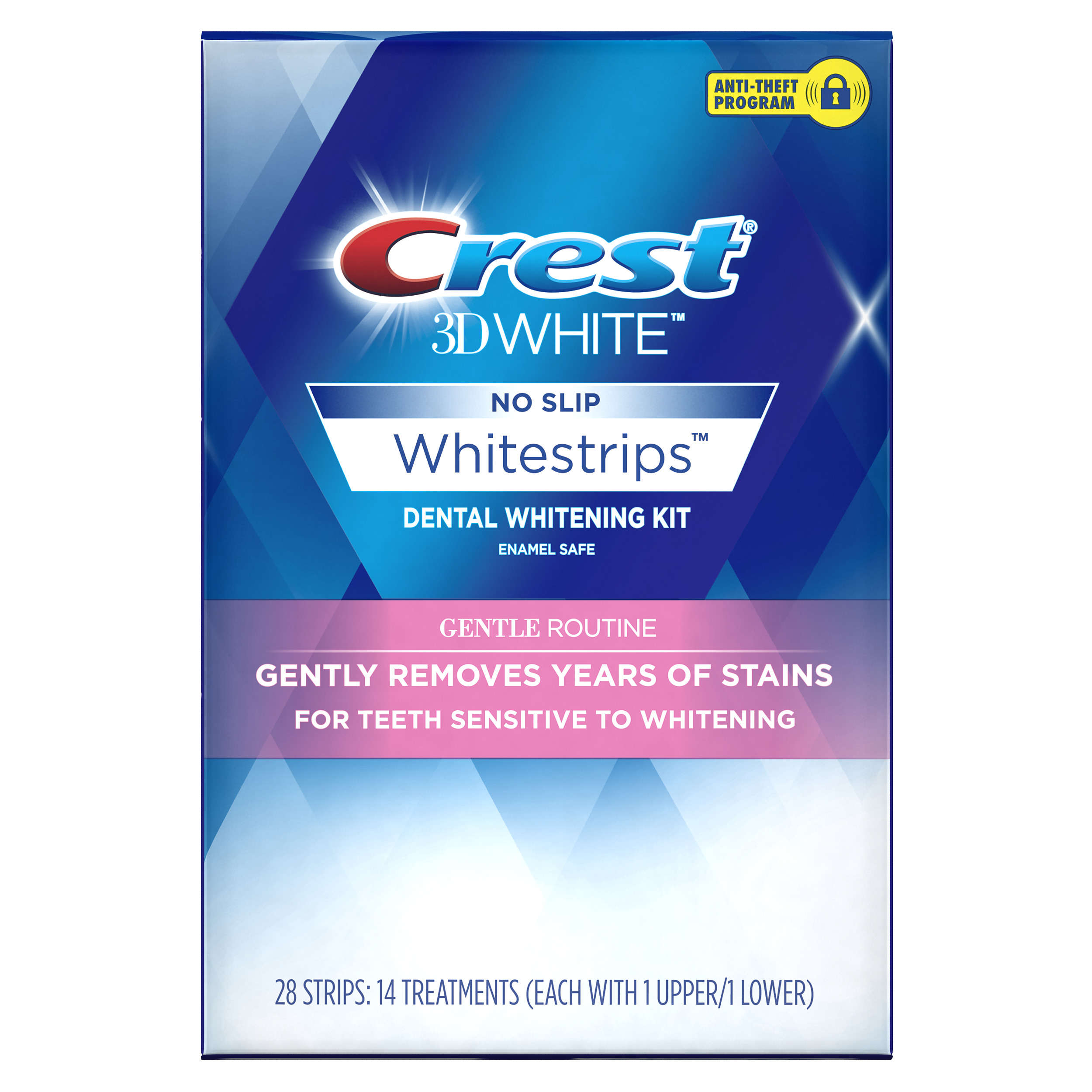 Crest 3D White Whitestrips ($5 Rebate Available) Gentle Routine Teeth Whitening Kit, 14 Treatments