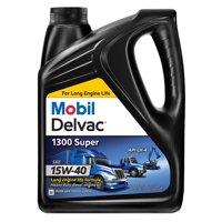 Mobil Delvac 1300 Super Heavy Duty Synthetic Blend Diesel Engine Oil 15W-40, 1 Gal