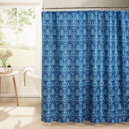 melissa waffle weave textured shower curtain with metal roller hooks. Black Bedroom Furniture Sets. Home Design Ideas