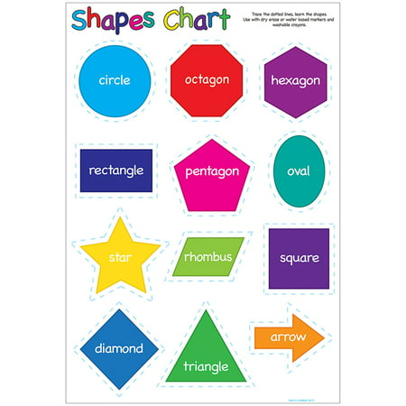 Shapes Chart (SHAPES 13X19 SMART POLY CHART 13X19 POLY)