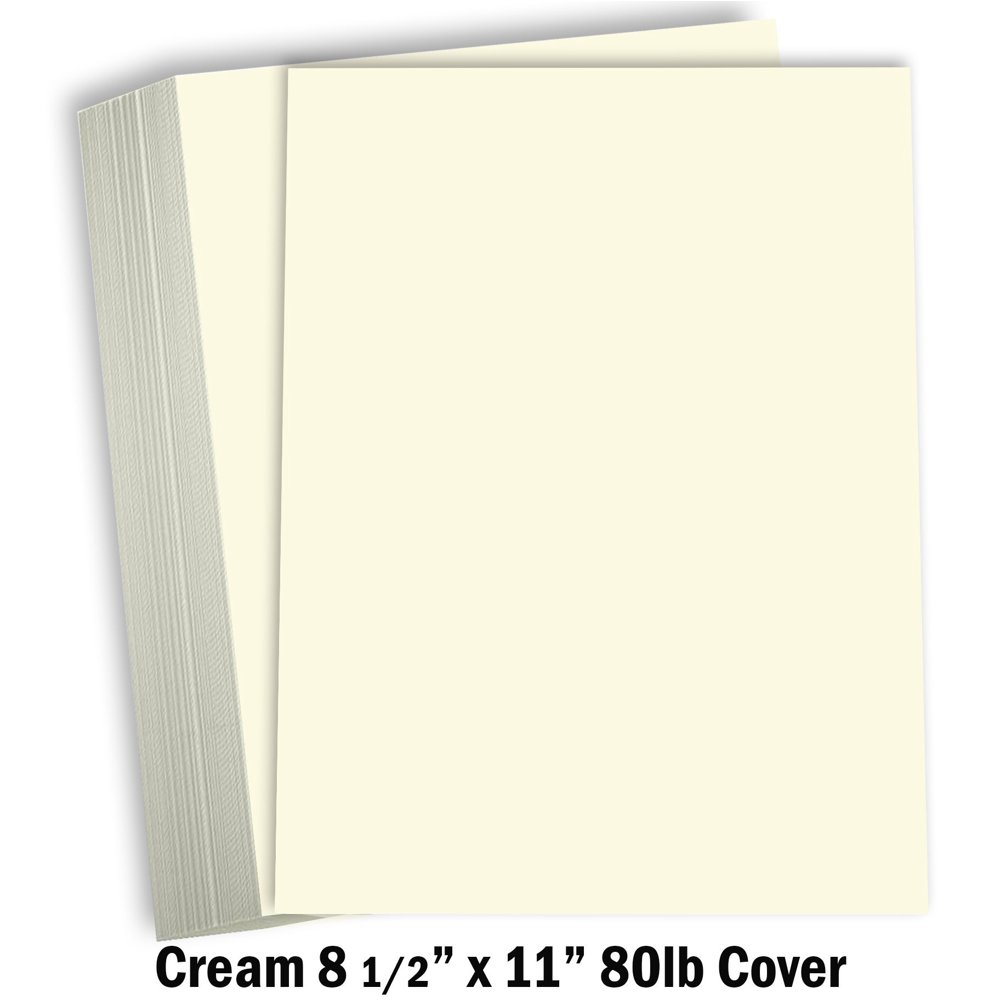 """cream colored cardstock thick paper  8 12 x 11"""" heavy"""