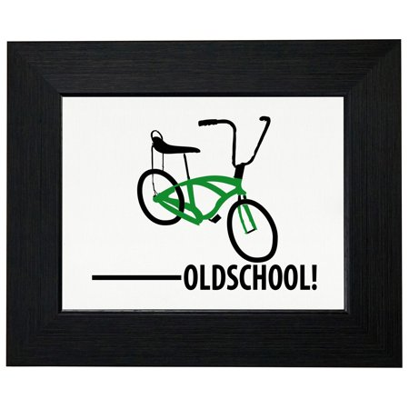Old School - With Picture of Bicycle Banana Seat Framed Print Poster Wall or Desk Mount Options