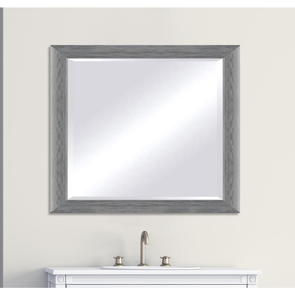 Framecrafters Inc Custom Sized Silver Framed Beveled Mirror 36 X