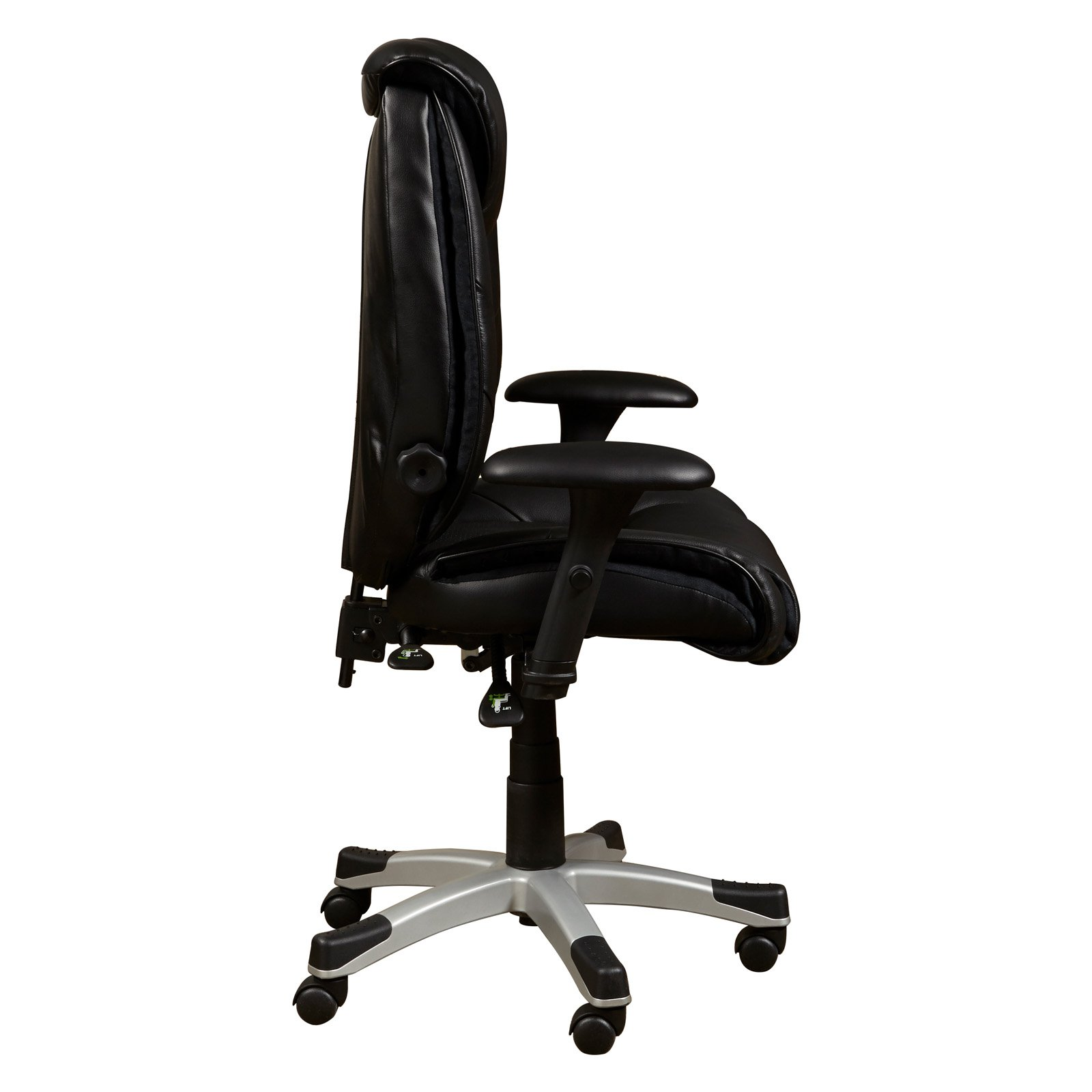 Home Meridian Sealy Leather Memory Foam Office Chair   Walmart.com