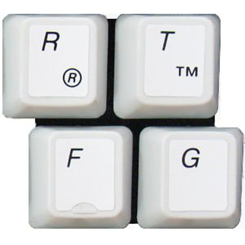 HQRP English QWERTY Laminated Non-Transparent Keyboard Stickers for All PC & Laptops with Black Lettering