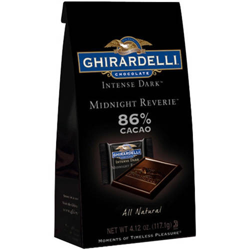 Ghirardelli Intense Dark Midnight Reverie 86% Cacao Singles Bag, 4.12 oz