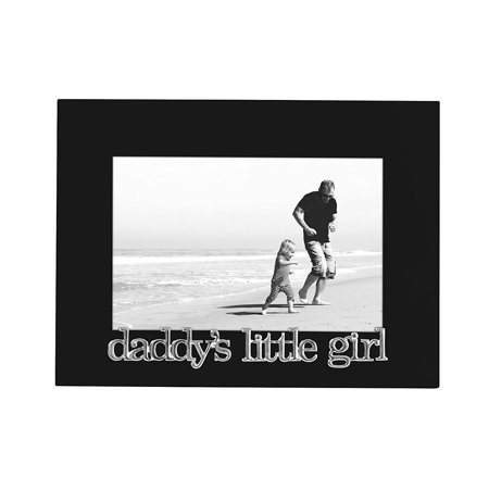 Daddys Little Girl - Black Picture Frame - Glass - Fits 4x6 Photo