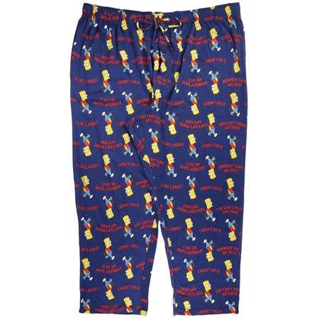 The Simpsons Nobody Saw Me Do It Pajama Pants Mens Plus Size Bart Simpson