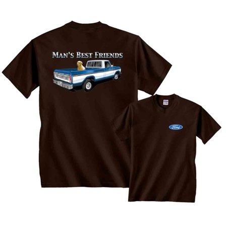 - Man's Best Friend Blue Ford Classic F150 Truck T-Shirt