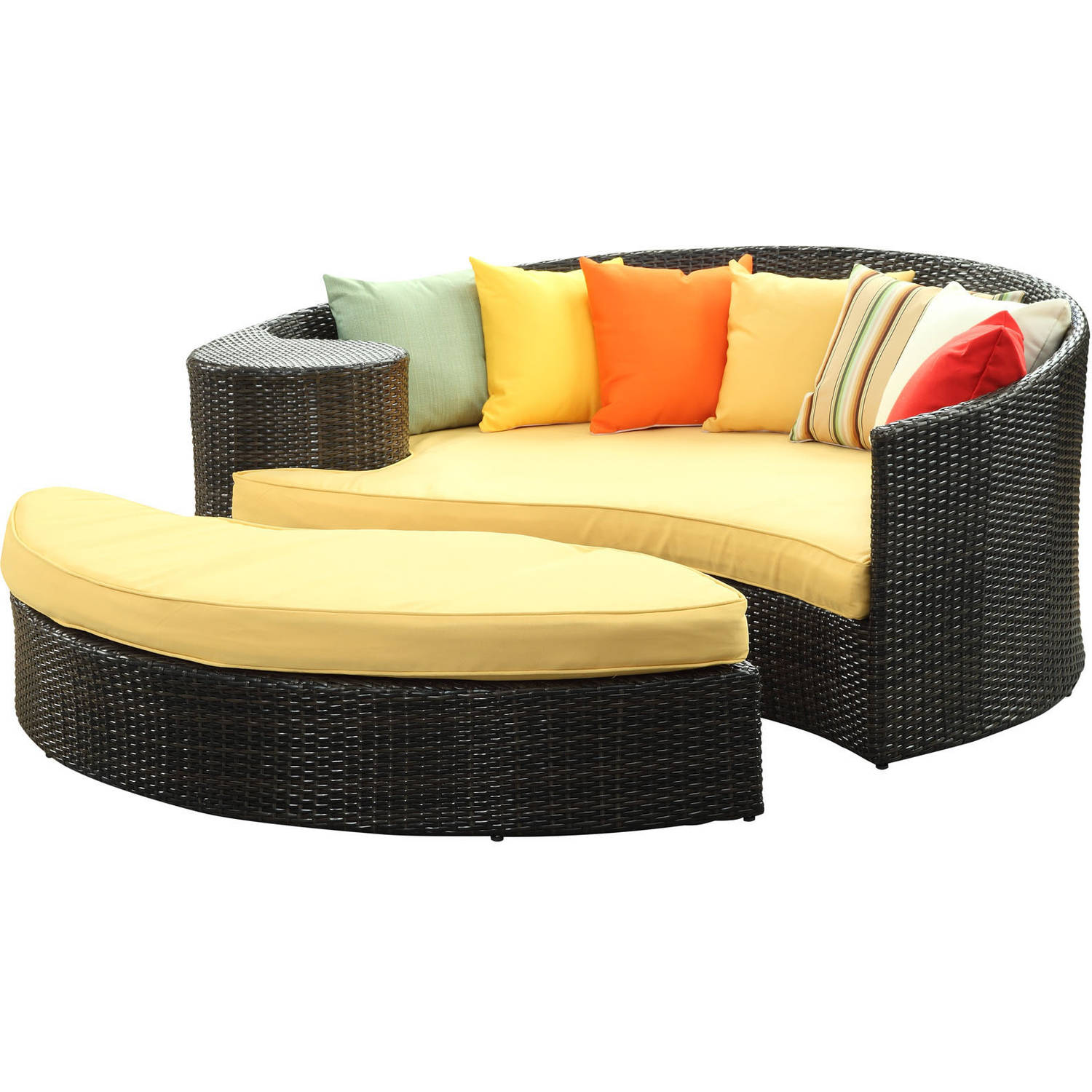 Modway Taiji Outdoor Patio Wicker Daybed, Multiple Colors
